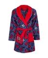 Cars fleece badjas rood blauw voor jongens