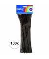 Chenilledraad zwart 30 cm 100 st