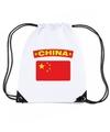 China nylon rugzak wit met chinese vlag
