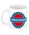 Christopher naam koffie mok beker 300 ml