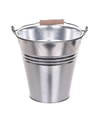 Chroom metalen emmer 7 liter