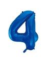 Cijfer 3 folie ballon blauw van 92 cm