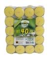 Citronella waxinelichtjes 40 stuks