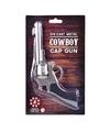Cowboy plaffertjes pistool zilver 22 cm 8 schots