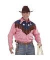 Cowboy verkleed shirt geruit voor heren