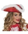 Dansmarieke hoed rood wit voor dames