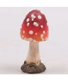 Decoratie paddenstoel vliegenzwam 8 cm