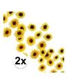 Decoratie zonnebloemetjes pakket van 2 zakjes