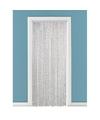 Deurgordijn floddergordijn wit grijs 90 x 220 cm