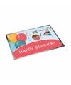 Deurmat verjaardag happy birthday 40 x 60 cm