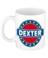 Dexter naam koffie mok beker 300 ml