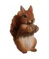 Dierenbeeldje bruine eekhoorn 15 cm