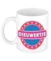 Dieuwertje naam koffie mok beker 300 ml
