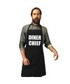 Diner chief keukenschort zwart heren