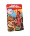 Dino world mini dino katapult t rex rood