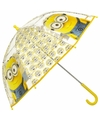 Disney minions paraplu transparant 70 cm