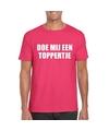 Doe mij een toppertje shirt roze heren