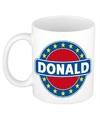Donald naam koffie mok beker 300 ml