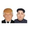 Donald trump en kim jong un maskers voor volwassenen