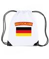 Duitsland nylon rugzak wit met duitse vlag
