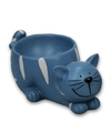 Eierdopje kat poes blauw