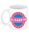 Elisabeth naam koffie mok beker 300 ml