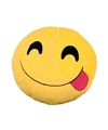 Emoticon kussen smiley met tong 30 cm