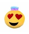 Emoticon kussen verliefd met kuif 35 cm