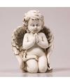 Engel beeldje zittend biddend 14 cm
