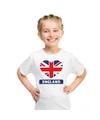 Engeland hart vlag t shirt wit jongens en meisjes