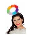 Engeltjes diadeem regenboog voor volwassenen