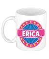 Erica naam koffie mok beker 300 ml