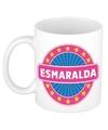 Esmaralda naam koffie mok beker 300 ml