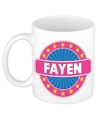 Fayen naam koffie mok beker 300 ml