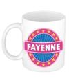 Fayenne naam koffie mok beker 300 ml