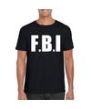 Fbi tekst t shirt zwart heren