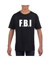 Fbi tekst t shirt zwart kinderen
