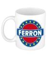 Ferron naam koffie mok beker 300 ml