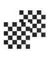 Finish servetten zwart wit geblokt 12 stuks
