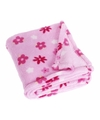 Fleece deken bloemen design 100 x 150 cm