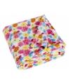 Fleece deken bloemen design 75 x 100 cm
