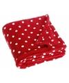 Fleece deken stipjes design 75 x 100 cm