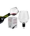 Flessenstop wijnglas