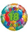 Folie ballon 18 jaar 45 cm