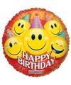 Folie ballon smiley jarig 45 cm