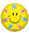 Folie ballon smiley met pleisters 45 cm
