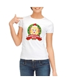 Foute kerst t shirt wit merry x mas boys voor dames
