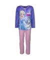 Frozen elsa velours pyjama paars voor meisjes