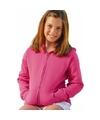 Fuchsia roze katoenmix vest met capuchon voor meisjes