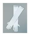 Gala handschoenen lang wit voor volwassenen